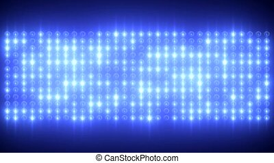 Blue LED Wall 2017 - LED wall with blue twinkling spots...