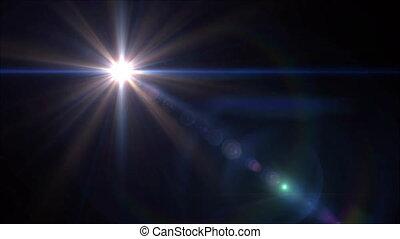 blue lens flare 4k