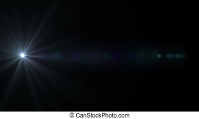 Blue Lens Flare Horizontal 006