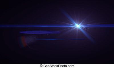Blue lens flare light