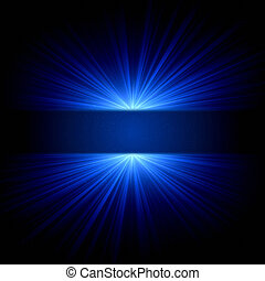 abstract blue lights and dots over dark background