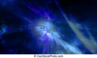 Blue light and purple bars looping animated background -...