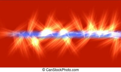 blue light beam jet red fire,rays l