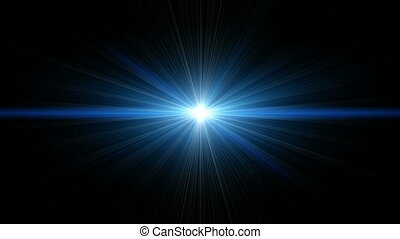 Blue Light Beams
