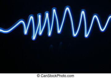 Blue Light - blue lighting wave