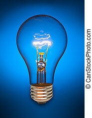 Blue light bulb - Clear light bulb back lit by a blue light...