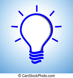 Blue light bulb abstract background