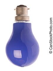 Blue Light Bulb Isolated