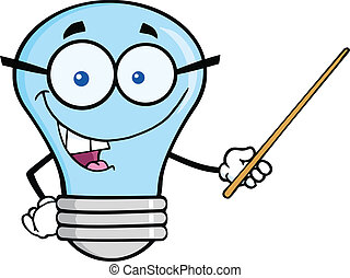 Blue Light Bulb With Glasses