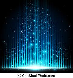 Blue-Light equalizer, sci-fi futuristic style vector ...