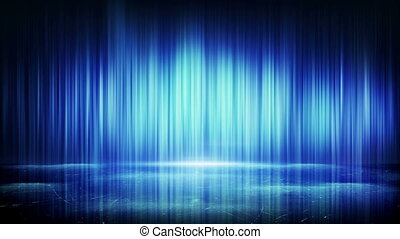 blue light lines and reflection loop background