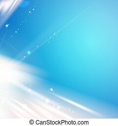 Blue light over sky, abstract background.