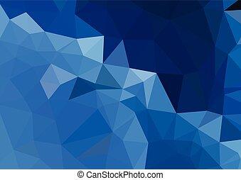 Blue Light Polygonal Mosaic Background, Vector illustration, Business Design Templates
