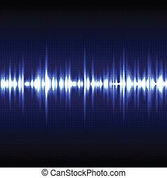 Vector illustration of blue light pulse background.