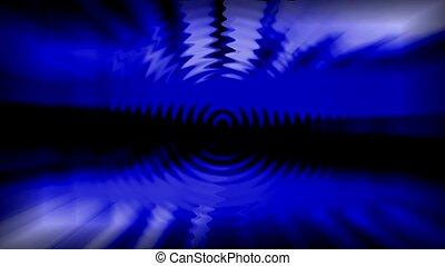 blue light rays and ripple