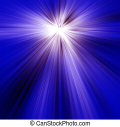 Blue Light Rays - Abstract of Blue Light Rays