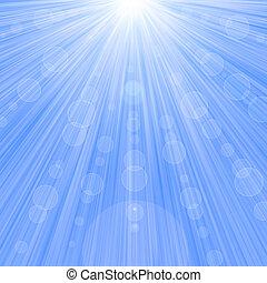 Blue light star bokeh background.
