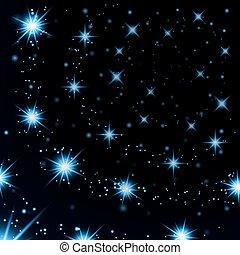 light stars on black background