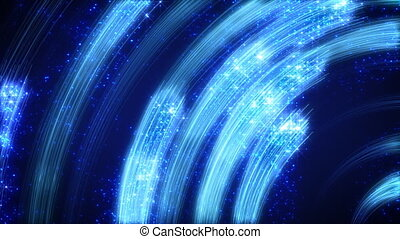 blue light streaks abstract loop