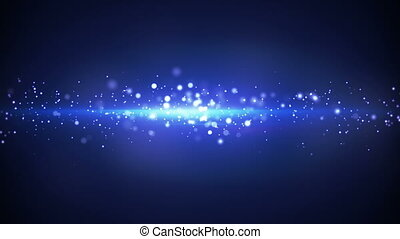 blue light stripe and particles