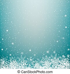 blue light winter snow background
