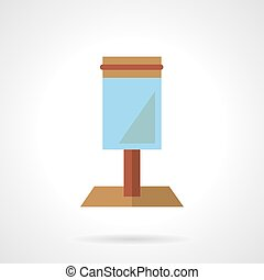 Blue lightbox vector icon flat style