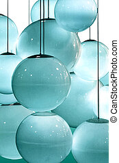 blue lightbulbs - Abstract pattern of blue circles