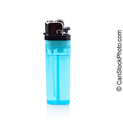 blue lighter isolated on a white background.