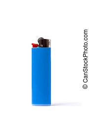 Blue lighter isolated on white background