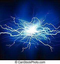 Blue Lightning Background - Blue lightning realistic...