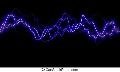 blue lightning flash background