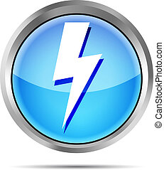blue lightning icon on a white background
