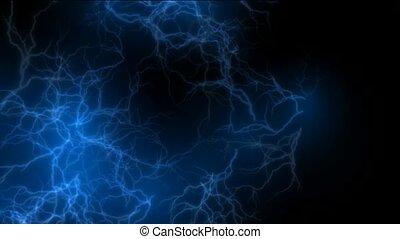 blue lightning, magnetic field, Negative oxygen ions.