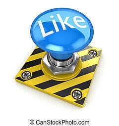 Blue like button