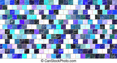 Blue Lilac White and Black Seamless Decorative Tile Background Texture