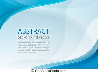Blue line abstract background. Vector illustration.