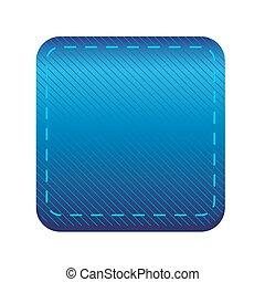 Blue line button vector
