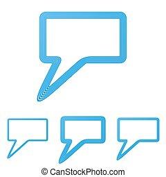 Blue line chat logo design set