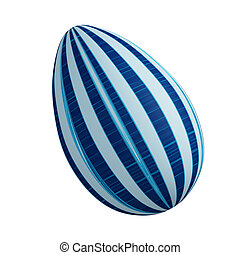 Blue linear abstract Easter egg