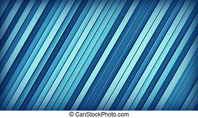 Blue lines 3D render loopable animation - Blue extruded...