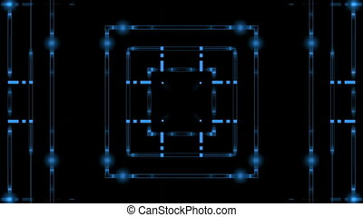 Blue lines on a black background
