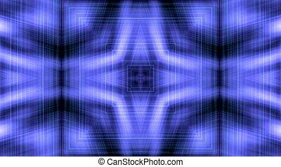 blue lines shaped fiber optic