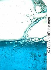blue liquid 2 - close up of blue liquid with bubbles