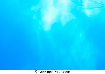 Blue liquid abstract background