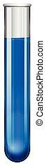 Blue liquid in test tube