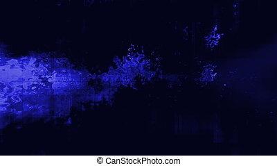 Blue liquid tech abstract loop
