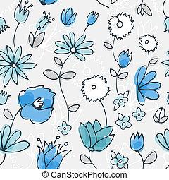 Blue little flower seamless pattern