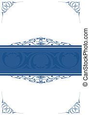 Blue little frames over white background