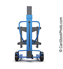 Blue loader. 3d illustration. Rear view.