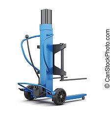 Blue loader. 3d render image.